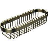 Oval Toiletry Wire Basket, Satin Brass