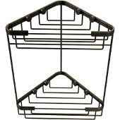 Shower Basket Collection Double Corner Shower Basket, Premium Finish, Antique Brass