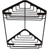 Shower Basket Collection Double Corner Shower Basket, Premium Finish, Rustic Bronze