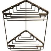 Shower Basket Collection Double Corner Shower Basket, Premium Finish, Brushed Bronze