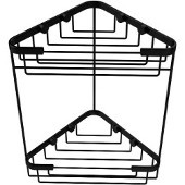 Double Tier Corner Shower Basket, Matte Black