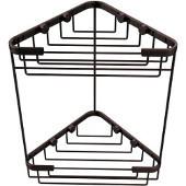 Shower Basket Collection Double Corner Shower Basket, Premium Finish, Antique Copper