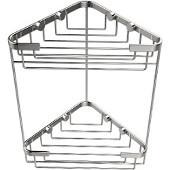 Shower Basket Collection Double Corner Shower Basket, Standard Finish, Polished Chrome