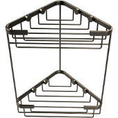 Shower Basket Collection Double Corner Shower Basket, Premium Finish, Antique Pewter