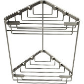 Shower Basket Collection Double Corner Shower Basket, Premium Finish, Polished Nickel