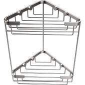 Shower Basket Collection Double Corner Shower Basket, Premium Finish, Satin Chrome