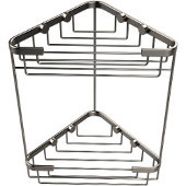 Shower Basket Collection Double Corner Shower Basket, Premium Finish, Satin Nickel