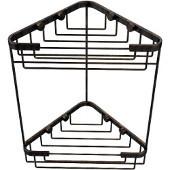 Shower Basket Collection Double Corner Shower Basket, Premium Finish, Venetian Bronze
