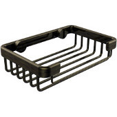 Shower Basket Collection Rectangular Shower Basket, Premium Finish, Antique Brass