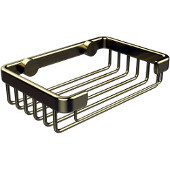 Shower Basket Collection Rectangular Shower Basket, Premium Finish, Satin Brass