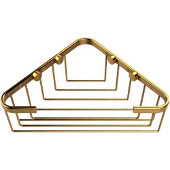 Shower Basket Collection Corner Shower Basket, Standard Finish, Polished Brass