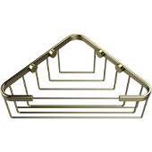 Shower Basket Collection Corner Shower Basket, Premium Finish, Satin Brass