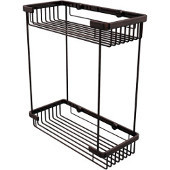 Shower Basket Rectangular Double Shower Basket, Premium Finish, Antique Copper