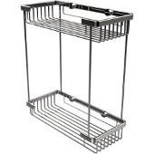 Shower Basket Rectangular Double Shower Basket, Standard Finish, Polished Chrome