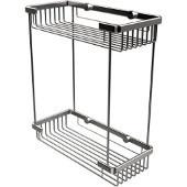 Shower Basket Rectangular Double Shower Basket, Premium Finish, Satin Chrome