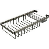 Shower Basket Collection Rectangular Shower Basket, Premium Finish, Polished Nickel