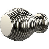 C-1 Series Designer Cabinet Knobs Collection 1'' Diameter Round Grooved Cabinet Knob in Polished Nickel (Premium Finish), Available in Multiple Finishes
