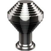 D-1 Series Designer Cabinet Knobs Collection 1-1/10'' Diameter Round Grooved Cabinet Knob in Polished Chrome (Standard Finish), Available in Multiple Finishes