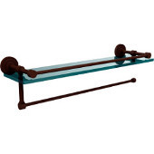 Dottingham Collection Paper Towel Holder with 16 Inch Gallery Glass Shelf, Antique Bronze