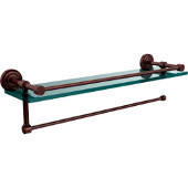 Dottingham Collection Paper Towel Holder with 16 Inch Gallery Glass Shelf, Antique Copper