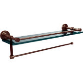 Dottingham Collection Paper Towel Holder with 16 Inch Gallery Glass Shelf, Antique Pewter
