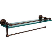 Dottingham Collection Paper Towel Holder with 16 Inch Gallery Glass Shelf, Venetian Bronze