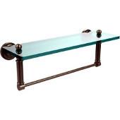 Dottingham Collection 16'' Glass Shelf with Towel Bar, Premium Finish, Antique Pewter