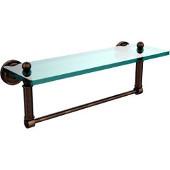 Dottingham Collection 16'' Glass Shelf with Towel Bar, Premium Finish, Venetian Bronze
