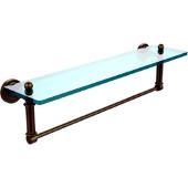 Dottingham Collection 22'' Glass Shelf with Towel Bar, Premium Finish, Antique Brass