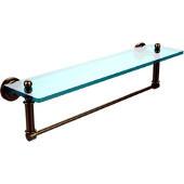 Dottingham Collection 22'' Glass Shelf with Towel Bar, Premium Finish, Brushed Bronze