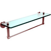 Dottingham Collection 22'' Glass Shelf with Towel Bar, Standard Finish, Polished Chrome