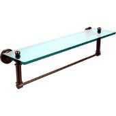 Dottingham Collection 22'' Glass Shelf with Towel Bar, Premium Finish, Antique Pewter