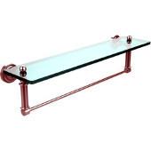 Dottingham Collection 22'' Glass Shelf with Towel Bar, Premium Finish, Satin Chrome