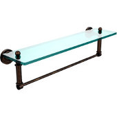 Dottingham Collection 22'' Glass Shelf with Towel Bar, Premium Finish, Venetian Bronze