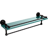 Dottingham 22 Inch Gallery Glass Shelf with Towel Bar, Oil Rubbed Bronze