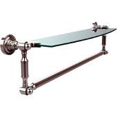 Dottingham Collection 24'' Single Glass Shelf with Towel Bar, Standard Finish, Polished Chrome
