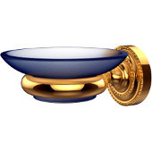 Dottingham Collection Wall Mounted Soap Dish Holder, Standard Finish, Polished Brass