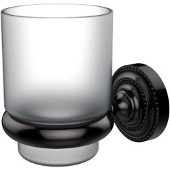 Dottingham Collection Glass Tumbler with Wall Mounted Holder, Premium Finish, Oil Rubbed Bronze