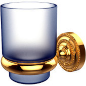 Dottingham Collection Wall Mounted Tumbler Holder, Unlacquered Brass
