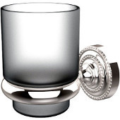 Dottingham Collection Glass Tumbler with Wall Mounted Holder, Standard Finish, Polished Chrome
