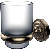 Dottingham Collection Glass Tumbler with Wall Mounted Holder, Premium Finish, Antique Pewter
