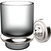 Dottingham Collection Glass Tumbler with Wall Mounted Holder, Premium Finish, Satin Chrome