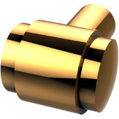 F-10 Series Cabinet Hardware 1-1/10'' W Round Cabinet Knob in Polished Brass (Standard Finish), Available in Multiple Finishes