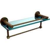 Fresno Collection 16'' Shelf w/Gallery Rail and Towel Bar, Premium Finish, Antique Brass