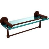Fresno Collection 16'' Shelf w/Gallery Rail and Towel Bar, Premium Finish, Rustic Bronze