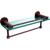 Fresno Collection 16'' Shelf w/Gallery Rail and Towel Bar, Premium Finish, Antique Copper