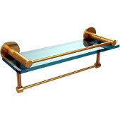 Fresno Collection 16'' Shelf w/Gallery Rail and Towel Bar, Standard Finish, Polished Brass