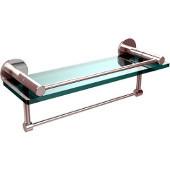 Fresno Collection 16'' Shelf w/Gallery Rail and Towel Bar, Standard Finish, Polished Chrome