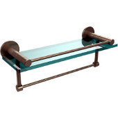 Fresno Collection 16'' Shelf w/Gallery Rail and Towel Bar, Premium Finish, Antique Pewter