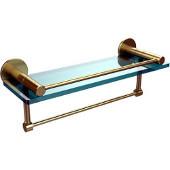 Fresno Collection 16'' Shelf w/Gallery Rail and Towel Bar, Premium Finish, Satin Brass